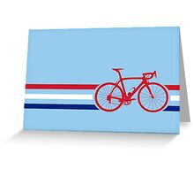 Bike Stripes British National Road Race v2 Greeting Card