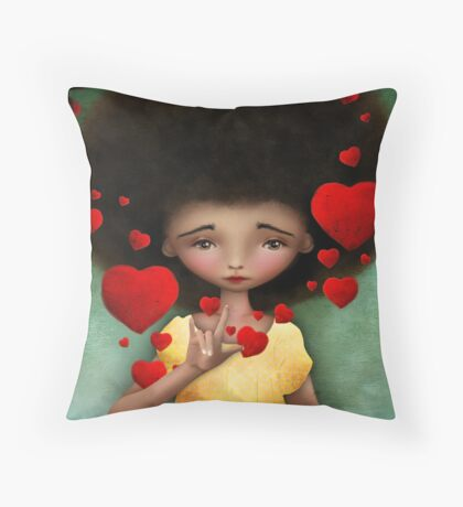 Gesture Throw Pillow