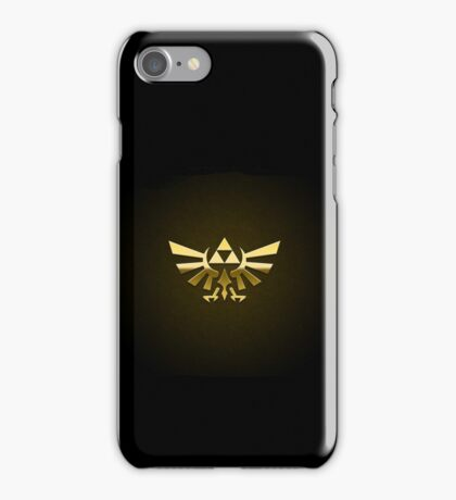 Hyrule Legend of  Zelda Link Crest triforce hylian shield iPhone Case/Skin
