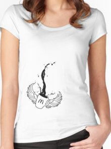 Mcdonalds coffee tribute Women's Fitted Scoop T-Shirt