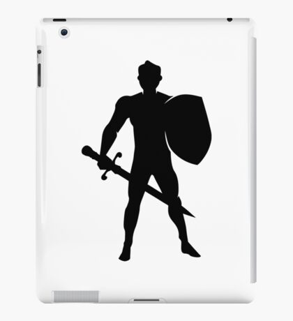 RPG Warrior Silhouette iPad Case/Skin