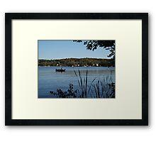 Lake Fishing Framed Print