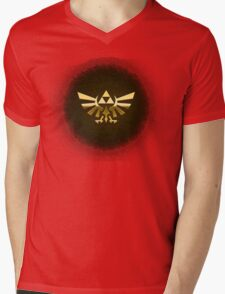 Hyrule Legend of  Zelda Link Crest triforce hylian shield Mens V-Neck T-Shirt