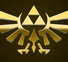 Hyrule Legend of  Zelda Link Crest triforce hylian shield Sticker