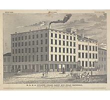 488 R L A Stuart's steam candy and sugar refinery corner of Greenwich and Chambers Street New York Lossing Opened 1806 Rebuilt 1835 Enlarged 1840 Photographic Print