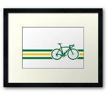 Bike Stripes Australian National Road Race v2 Framed Print