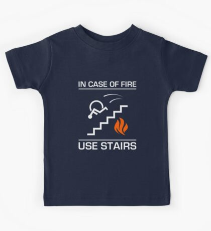 In Case of Fire Sign Kids Tee
