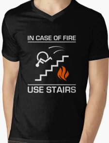 In Case of Fire Sign Mens V-Neck T-Shirt