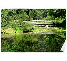 Japanese Garden in Summer Poster