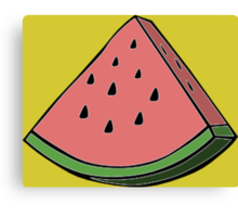 Pop Art Watermelon Canvas Print