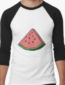 Pop Art Watermelon Men's Baseball ¾ T-Shirt