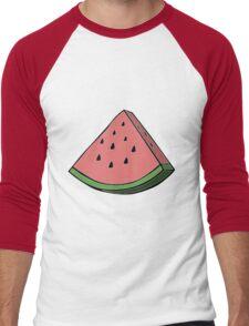Pop Art Watermelon Men's Baseball ¾ T-Shirt