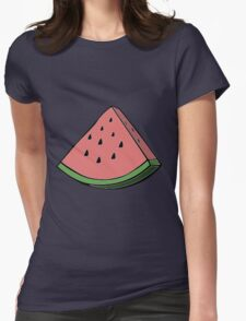 Pop Art Watermelon Womens Fitted T-Shirt