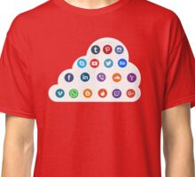 Social Media Cloud Icons Classic T-Shirt