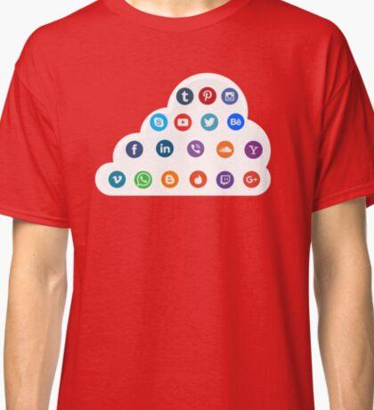 Social Media Cloud Icons Classic T-Shirt