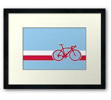 Bike Stripes Poland Framed Print