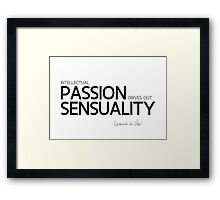 intellectual passion, sensuality - leonardo da vinci Framed Print