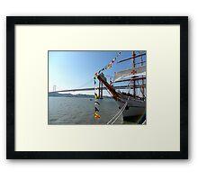 Sagres in Tagus River, Lisbon - Portugal; by Ana Canas Framed Print