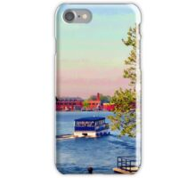 Water Taxi Leaving Canton Dock, Baltimore, Md. iPhone Case/Skin