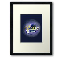 10th Doctor - Allons-y with TARDIS, sonic screwdriver and Adipose. Framed Print