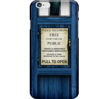 Free For Use Of Public - Tardis Door Sign - (please see description) iPhone Case/Skin