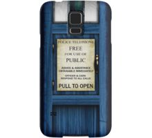 Free For Use Of Public - Tardis Door Sign - (please see description) Samsung Galaxy Case/Skin