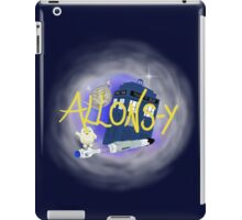 10th Doctor - Allons-y with TARDIS, sonic screwdriver and Adipose. iPad Case/Skin