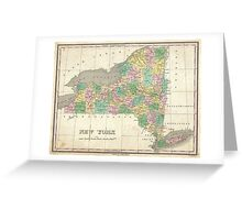 Vintage Map of New York (1827) Greeting Card