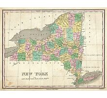 Vintage Map of New York (1827) Photographic Print