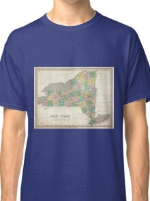 Vintage Map of New York (1827) Classic T-Shirt