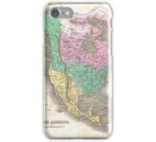 Vintage Map of North America (1827) iPhone Case/Skin