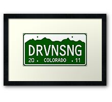 Driving Song Framed Print