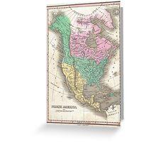 Vintage Map of North America (1827) Greeting Card