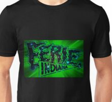Eerie Indiana logo in green Unisex T-Shirt