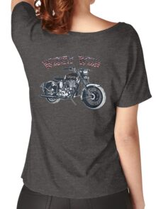 Wisely Wild Biker Apparel  Women's Relaxed Fit T-Shirt