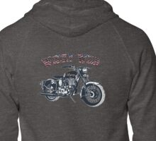 Wisely Wild Biker Apparel  Zipped Hoodie