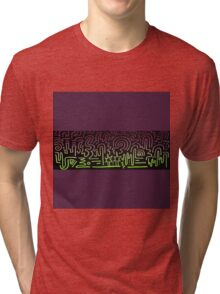 Clean Stripe (Northern Lights) Tri-blend T-Shirt