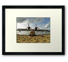 seaplane moored  Framed Print