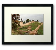 Pskov fortress Framed Print