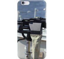 Machine gun on warship iPhone Case/Skin