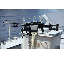 Machine gun on warship Photographic Print