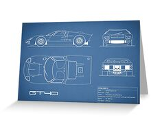 The GT40 Blueprint Greeting Card