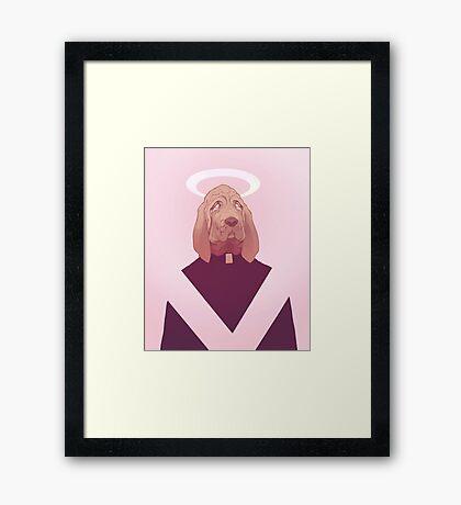 dog god oliver Framed Print