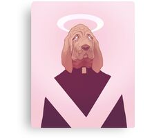 dog god oliver Canvas Print