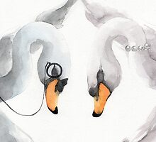 Mr & Mrs Swan by Paola Cocchetto