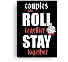 Couples Who Roll Canvas Print