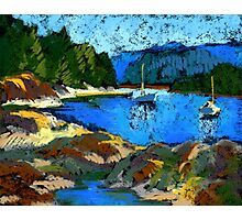 Belcarra. Study in pastel. Boats Photographic Print