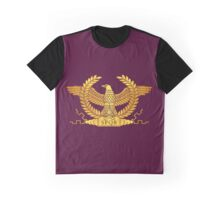 Roman Golden Eagle on Purple Graphic T-Shirt