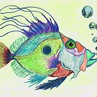 Funky Fish Art - By Sharon Cummings by Sharon Cummings