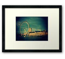 The view of London Eye. Framed Print